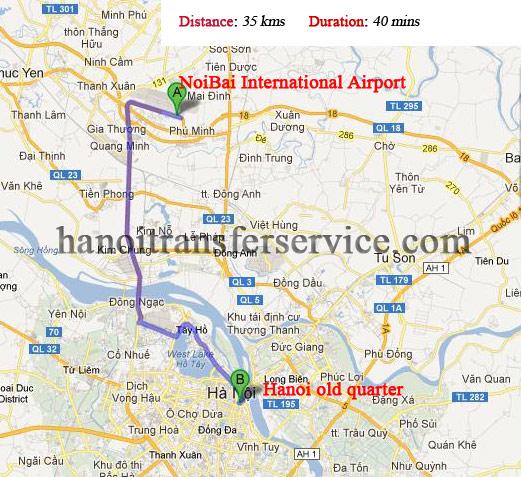 Noibai airport  to Hanoi center